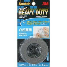3M SCOTCH H/DUTY D/B SIDED TAPES KHR-19  19MM X 1.5MTR (HEAT RESISTANT)