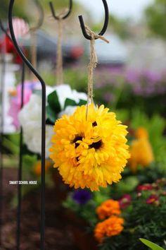 Sunflower Pomander #diy #diypomander #sunflower #sunflowerpomander