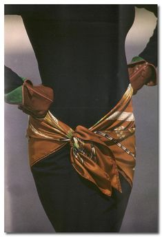 A friend of mine loaned me a book from the 1980s on how to tie an Hermes Scarf. I have the latest book but just looks at these images from ...