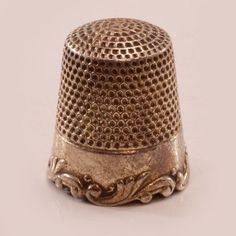 Antique Ketcham & McDougall Sterling Silver Thimble - Louis XV Pattern