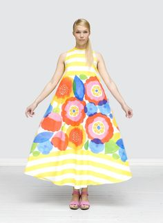Frock on Friday: Marimekko - - Bold patterns and color blocks make this a spec. Colourful Outfits, Colorful Fashion, Marimekko Dress, Special Dresses, Ugg, Mode Inspiration, Frocks, Dress Up, Summer Dresses