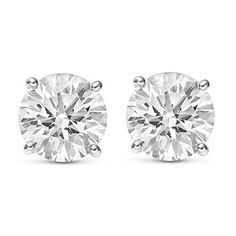 10K Solid White Gold Cubic Zirconia Premium Dice Earrings 3 Sizes