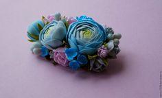 """Купить Брошь """"Весна"""" - комбинированный, брошь ручной работы, брошь цветок, брошка"""