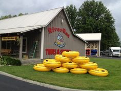 Smoky Mountain River Rat tubing is located in Townsend, Tennessee, about 45 minutes South of Knoxville at the entrance to Smoky Mountain National Park.