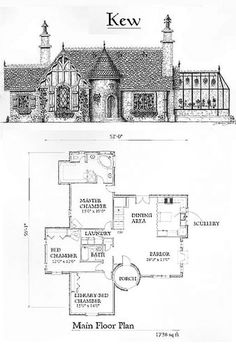 english cottage home plans Cottage Home Plans Cottages are heat, quaint, and welcoming. Our cottage home plans embrace designs with bungalow and Craft. Cottage Floor Plans, Cottage Plan, Cottage Homes, House Floor Plans, Colonial Cottage, Brick Cottage, Southern Cottage, Victorian Cottage, Modern Cottage