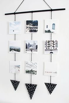 DIY Photo wall hanging from MichaelsMakers Homey Oh My