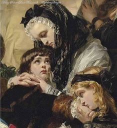Detail of The Last Parting of Marie Antoinette and her Son by Edward Matthew Ward.