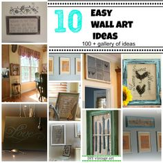 10 easy wall art ideas, diy and more.