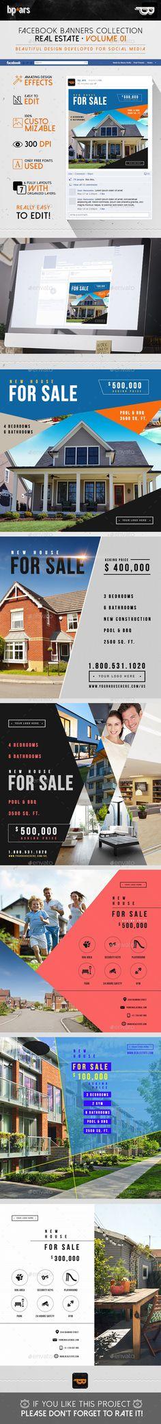 5 Facebook Banners Posts | Real Estate vol I