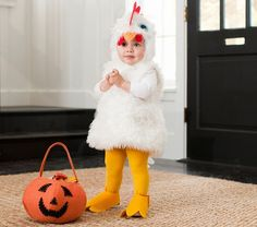 ...for chicken leg!!!...Baby Chicken Costume | Pottery Barn Kids.  Charlotte is really into making chicken noises lately, especially when eating chicken for dinner:)