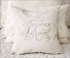 ♕ pretty Christmas pillow