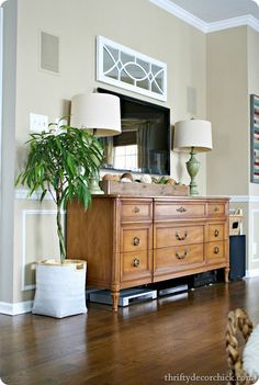 living room dressers with tv above fireplace decorating ideas 105 best the television wall images in 2019 unit furniture dresser as entertainment center painted basket pebble beach benjamin moore color tree