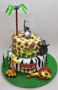 Baby TV et 1 Piso Birds pour Bianca Pool Party de Tomas Jazmin de Aladino pour . Safari Birthday Cakes, Safari Cakes, Zoo Cake, Jungle Cake, Bolo Madagascar, Cupcakes, Bolo Fack, Safari Baby Shower Cake, Charlotte Cake