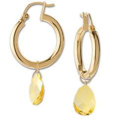 Energy Hoops with Citrine