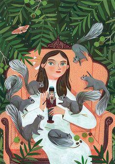 Ilustración manual y digital de Rebecca Green