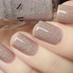 Bright Summer Acrylic Nails Discover Manor House - Taupe Holographic Sheer Jelly Nail Polish by ILNP Hair And Nails, My Nails, Jelly Nails, Dipped Nails, Nail Polish Colors, Glitter Nail Polish, Nude Nails With Glitter, Gel Nail, Taupe Nails