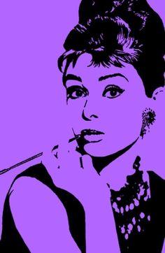 Audrey Hepburn Stretched Canvas