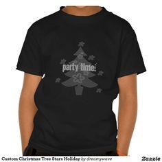 Custom Christmas Tree Stars Holiday T-shirt