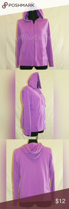 Purple Hooded Light Weight Jacket Sz XL Purple Tek Gear hooded zip-up light weight long sleeve jacket.  Has pockets in the front Sz XL tek gear Jackets & Coats
