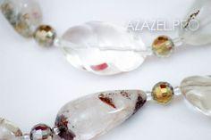 Друзья привет! Представляю Ожерелье бусы колье из Хрусталя горного №104!  Подробнее здесь: http://azazel.pro/rock-crystal-gemstone/necklaces-made-of-gemstone-rock-crystal.html#104  #хрусталь #crystal #ожерелье #украшения #jewellery #necklace