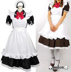 Classic Maid Cosplay — Black with Red Ribbon (M) $65.00 http://thingsfromjapan.net/classic-maid-cosplay-black-red-ribbon-m/ #Japanese cosplay #maid cosplay #maid costume #anime cosplay