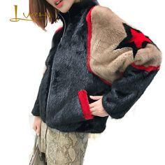 LVCHI 2018 зима норковая шуба натуральным мехом пальто Для женщин утолщаются полным ходом круглым вырезом в стиле пэчворк узор длинный рукав ко... Jacket Style, Fur Jacket, Fur Coat, Sweater Outfits, Casual Outfits, Fur Bomber, Build A Wardrobe, Embroidered Jeans, Hoodie