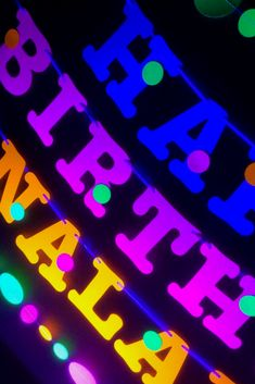 This glow party personalized banner with garlands is UV reflective and fluoresces like crazy under black light. It is a great addition to your glow party! Kids Birthday Themes, Boy Birthday, Birthday Parties, Blacklight Party, Personalized Banners, Glow Party, Name Banners, Garlands, Cupcake Toppers