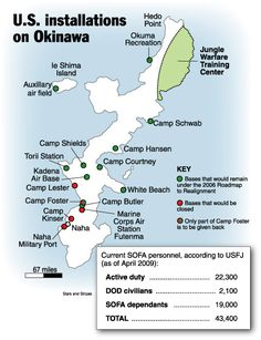 Marine Base In Japan Map.Map Of Okinawa And The Marine Corps And Air Force Bases In Japan