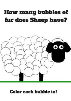Free Shaun the Sheep Printable How many bubbles of fur does Sheep have? #ShaunTheSheeepFlock #ad