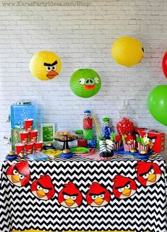 Angry Birds Themed Birthday Party Planning Ideas Supplies
