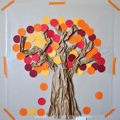 I HEART CRAFTY THINGS: Contact Paper Sticky Wall Fall Tree
