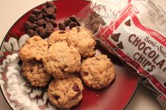 vegan choc chip cookies. When you don't have eggs or butter on hand. Uses coconut or palm oil