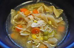 Easy Crock Pot Chicken Noodle Soup.