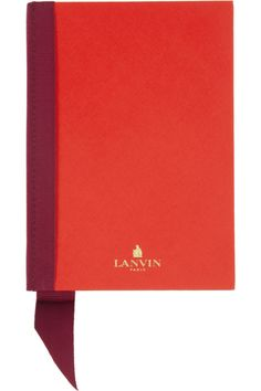 Lanvin | Grosgrain-trimmed hardcover notebook | NET-A-PORTER.COM