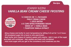 Sweeten your Valentine's Day with Chef Johnny Iuzzini's vanilla bean cream cheese frosting