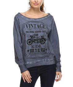 Look what I found on #zulily! Charcoal 'Vintage Ride' Boatneck Sweatshirt by Urban X #zulilyfinds