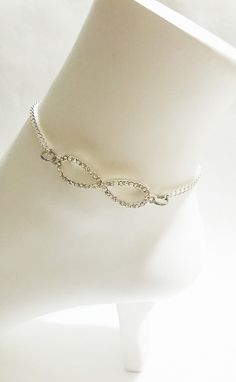 #Infinity Anklet #Foot Jewelry #BridesmaidGift by VickysLittleSecrets, $10.50