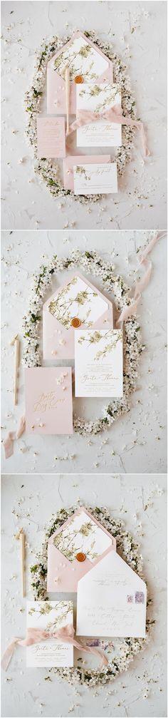 Blush pink wedding invitations #weddings #weddingideas 07/botRC/z