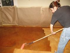 Stained concrete. DIY