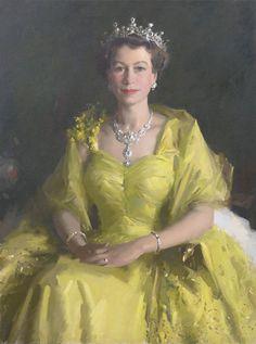 Portrait of Queen Elizabeth II painted just after her coronation in 1954 by renowned Australian artist Sir William Dargie