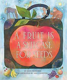 Kids find this book so interesting!!! It's about the different kids of seeds in fruits.  Great for teaching plants and seeds!  We love the bight, pretty illustrations.