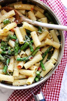 Pasta with Asparagus and Sun Dried Tomatoes | Green Valley Kitchen