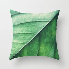 Pillow Cover, Leaf Pillow Green Leaf Nature Decor Accent Throw Woodland Hippie Interiors Kussen Groen Forest Green Cushion 16x16 18x18 20x20 on Etsy, $40.00
