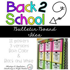 Back to School Bulletin BoardWe all know that setting up a classroom can be stressful and hectic. This bulletin board idea was…
