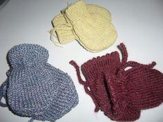 Chaude épaisse Bébé Mitaines à revers en Tricot Torsadé Tricot Gants 0 To 4-6 mois