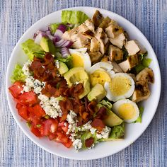 MMM... The perfect Cobb Salad with the perfect sliced egg! Use our egg slicer for help!