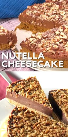 Nutella Cheesecake (THE BEST !) Nutella Cheesecake - Simple No-Bake Cheese . - Nutella Cheesecake (THE BEST !) Nutella Cheesecake – Simple no-bake cheesecake with Nutella and - Chocolate Cookie Recipes, Easy Cookie Recipes, Easy Desserts, Dessert Recipes, Nutella Cookie, Baking Recipes, Homemade Chocolate, Desserts Nutella, Nutella Mousse