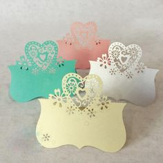 10pcs Hollow hot-selling snowflake Love Heart Laser Cut Wedding Party Table Name Place Cards decoracion boda  Favor Decor #Affiliate