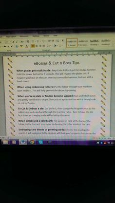 Cut and boss tips Card Making Tips, Get The Job, Die Cutting, Greeting Cards Handmade, Diy And Crafts, Boss, Tutorials, Plates, Ideas