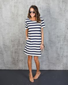 Ralph Pocketed Striped Dress